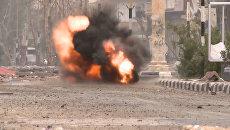 Сирийские саперы взорвали оставленную боевиками ИГ мину на улице Пальмиры