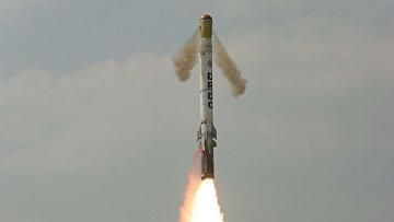 Запуск индийской баллистической ракеты Шорья, архивное фото