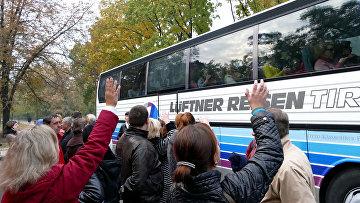 Родители провожают детей на отдых в Крым. Архивное фото