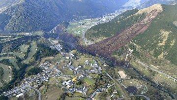 Сель, вызванный землетрясением в Японии