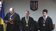 Оглашение приговора россиянам Ерофееву и Александрову в суде Киева