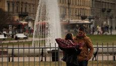 Открытие сезона фонтанов в Петербурге
