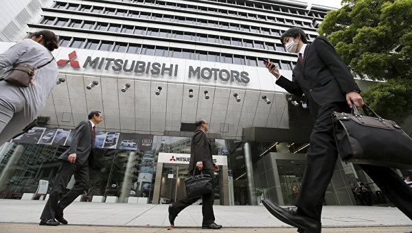 Здание главного офиса Mitsubishi Motors в Токио. 21 апреля 2016