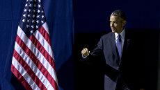 Президент США Барак Обама перед выступлением в Ганновере, Германия. 25 апреля 2016