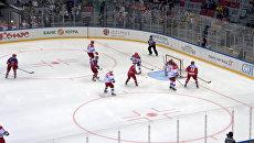 Гол Путина и другие яркие моменты гала-матча Ночной хоккейной лиги в Сочи