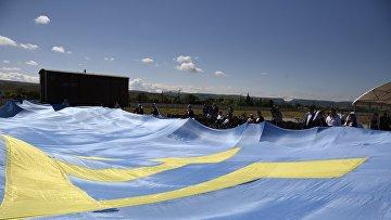 Флаг крымских татар. Архивное фото