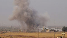 Дым после взрыва в окрестностях города Киркук, Ирак. Архивное фото