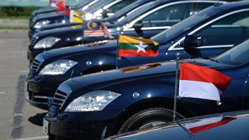 Автомобили глав делегаций участников АСЕАН. Архивное фото