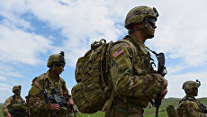 Солдаты армии США на учениях. Архивное фото