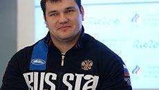 Российский тяжелоатлет Алексей Ловчев. Архивное  фото