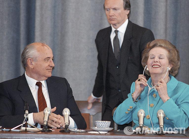 Совместная пресс-конференция Михаила Сергеевича Горбачева и Маргарет Тэтчер
