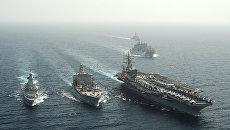 Авианосец военно-морских сил США Dwight D. Eisenhower. Архивное фото