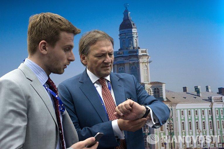Уполномоченный при президенте РФ по защите прав предпринимателей Борис Титов на Петербургском международном экономическом форуме