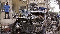 На месте атаки боевиков Аш-Шабаб. Архивное фото