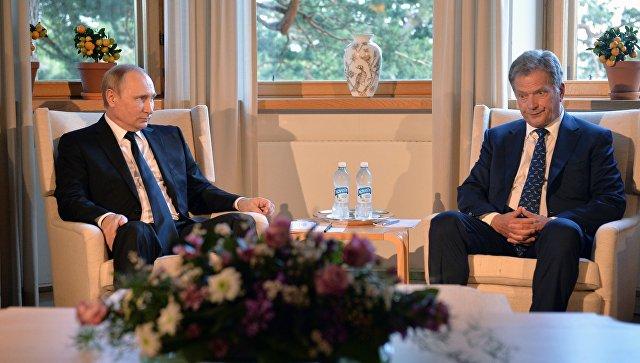 Президент РФ Владимир Путин и президент Финляндской Республики Саули Ниинистё. Архивное фото