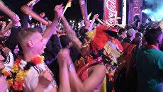 Радостные крики и танцы немцев после победы над Италией в ¼ финала Евро-2016