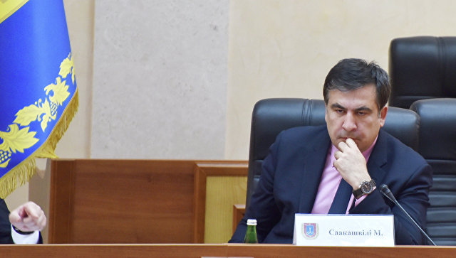 Михаил Саакашвили перед вручением ему удостоверения главы Одесской области. Архивное фото