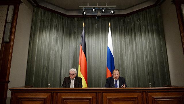 Штайнмайер иЛавров обсудили вопрос реализации Минских договоренностей
