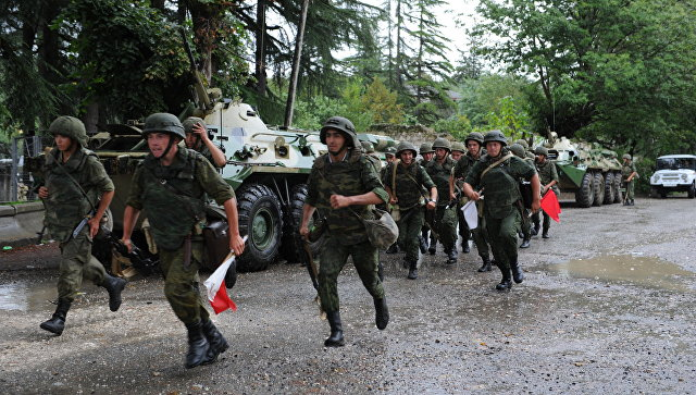 Российская военная база в Абхазии. Архивное фото