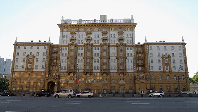Здание американского посольства в Москве. Архивное фото.