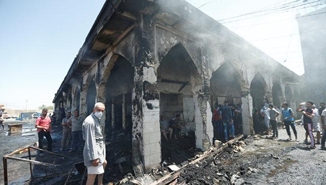 Последствия теракта в Багдаде. Архивное фото
