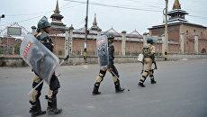 Военный патруль в Кашмире. Архивное фото