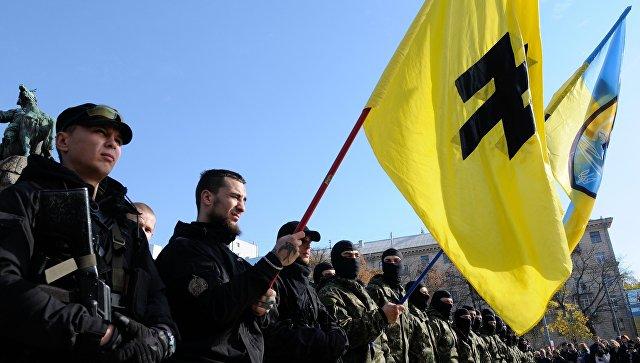 Бойцы полка Азов, архивное фото