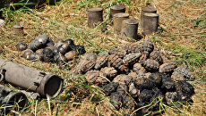 Оружейный схрон в Луганске. Архивное фото
