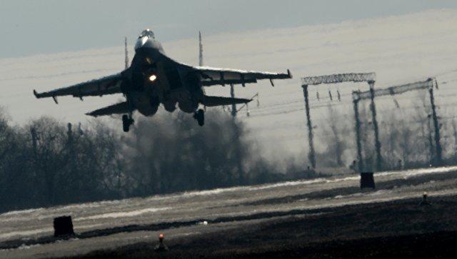 Истребитель Су-35С. Архивное фото