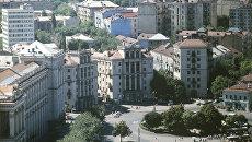 Вид сверху на центр города Киева
