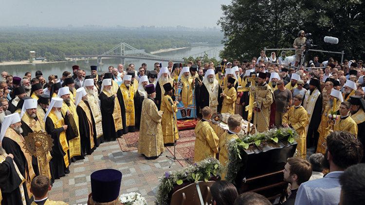 Молебен на Владимирской горке в Киеве. 27 июля 2016