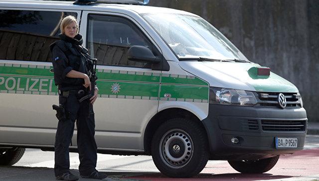 Сотрудник полиции в Германии. Архивное фото