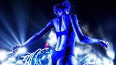 Участница фестиваля электронной музыки и современных технологий Alfa Future People