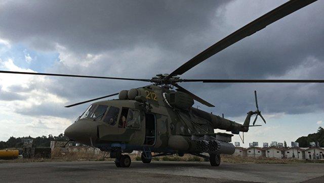 Русский Ми-8 вСирии сумел избежать попадания ракеты