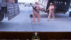 Начальник Главного оперативного управления Генштаба ВС России генерал-лейтенант Сергей Рудской на пресс-конференции после атаки на российский вертолет Ми-8 в Сирии. 1 августа 2016