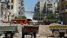 Ситуация в Алеппо. Сирия. Архивное фото