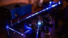Стенд изучения оптических и люминесцентных свойств алмазов в лаборатории экспериментальной минералогии и кристаллогенезиса в Институте геологии и минералогии СО РАН в Новосибирске