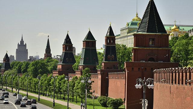 Вид на московский Кремль, архивное фото