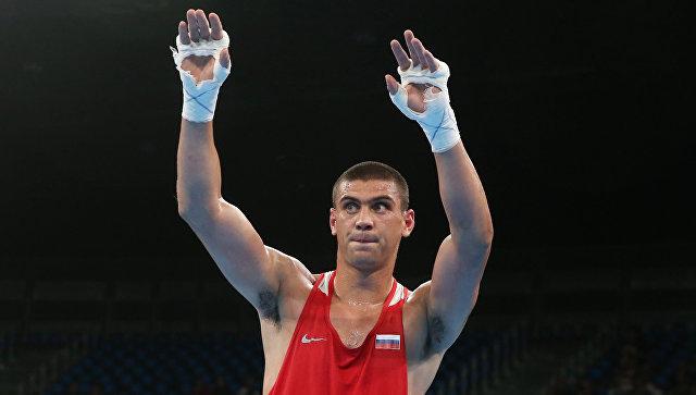 Российский боксер Евгений Тищенко после боя с итальянцем Клементе Руссо на Олимпиаде-2016 в Рио-де-Жанейро