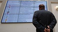 Жеребьёвка по размещению наименований политических партий в избирательном бюллетене. Архивное фото