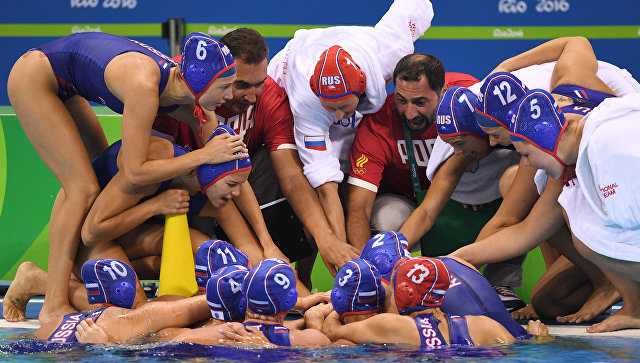 Сборная команда России по водному поло в матче за 3 место на XXXI летних Олимпийских играх