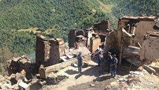 Последствия пожара в дагестанском селе Мокок
