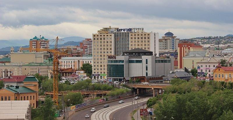 Вид на центр Улан-Удэ. Архивное фото