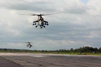 Перебазирование вертолетов армейской авиации Западного военного округа (ЗВО) на оперативные аэродромы