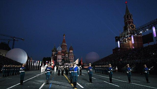 Церемония открытия Международного военно-музыкального фестиваля Спасская башня - 2016