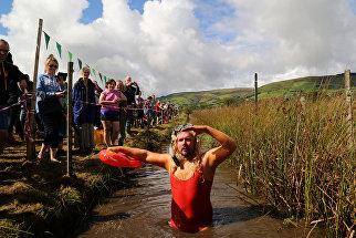 Чемпионат по нырянию в болото в Великобритании (World Bog Snorkelling Championship)