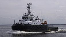 Новый спасательный буксир ВМФ России Полярный конвой