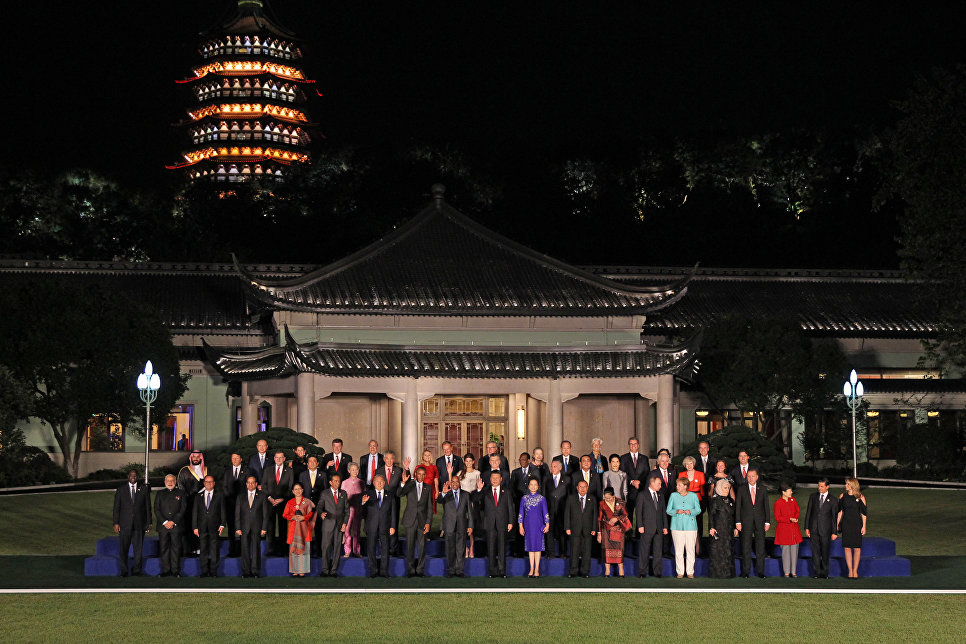 Russian President Vladimir Putin said at a joint photo of heads of delegations of States Parties Twenty G20 Group invited States and international organizations with their spouses in Hangzhou