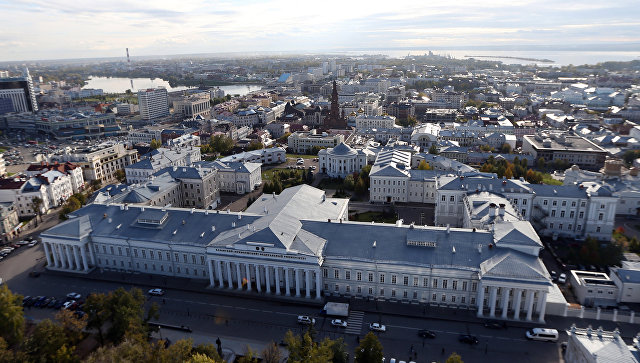 Вид на город Казань. Архивное фото
