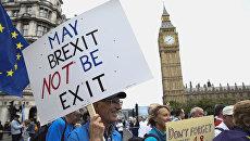Акция протеста против результатов Brexit в Лондоне